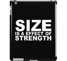 Size and strength Funny Geek Nerd iPad Case/Skin