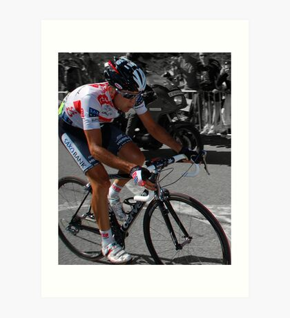 CARLOS SASTRE, 2008 TOUR DE FRANCE CHAMPION Art Print