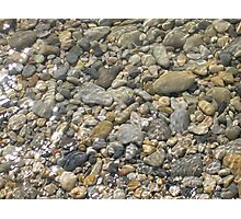 Pebbles in the River Photographic Print