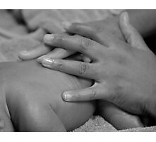 Mother's Hands Photographic Print