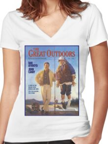THE GREAT OUTDOORS (1988) Women's Fitted V-Neck T-Shirt