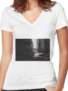 the sick rose Women's Fitted V-Neck T-Shirt