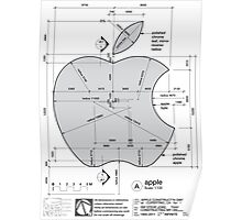 Apple Construction Dimensions Poster