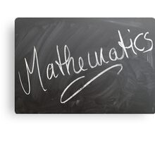 "Chalk Board ""Mathematics"", HD Photograph Canvas Print"