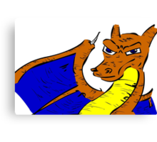 Charizard Battle Worn Awesome Cool Yeah Sweet Gnarly Canvas Print