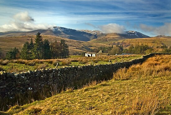 The Howgills from Uldale, Cumbria by Steve  Liptrot