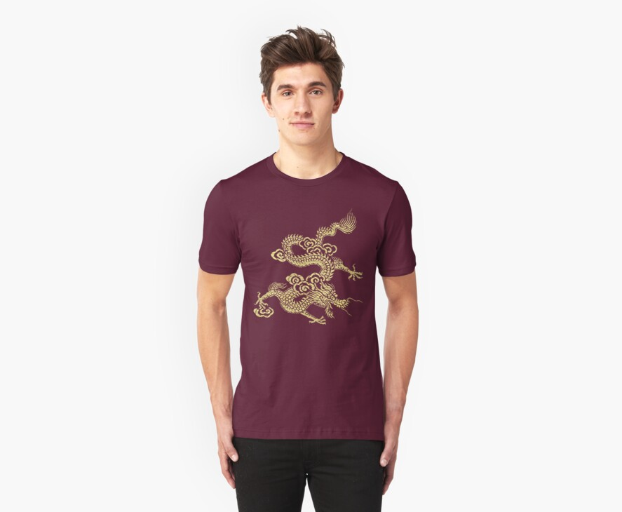 Gold Chinese Dragon Clothing by Jane McDougall