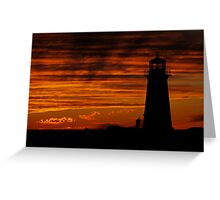 A Lover's Sunset - Peggy's Cove, NS Greeting Card