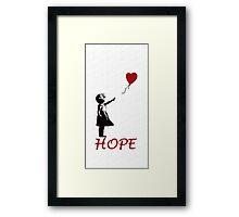 Banksy girl Framed Print
