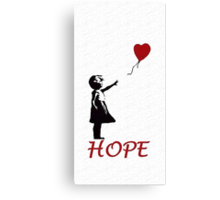 Banksy girl Canvas Print