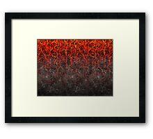Lava Earth Framed Print
