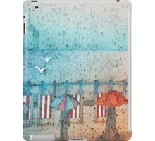 Rainy Day Summertime, Seaford Promenade (East Sussex) iPad Case/Skin