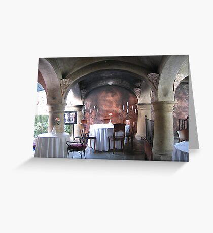 Dinner Under the Arches #2 Greeting Card