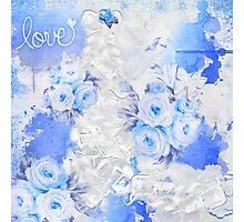 Love in Blue II Photographic Print