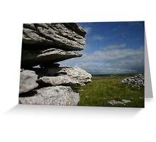 Stone Wall in the Burren Greeting Card