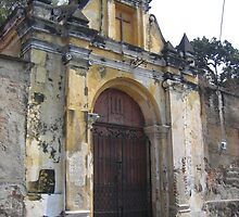 Ancient church in Antigua by Pat Yager