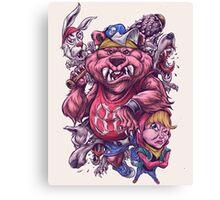 Masha and Roar Bear Canvas Print