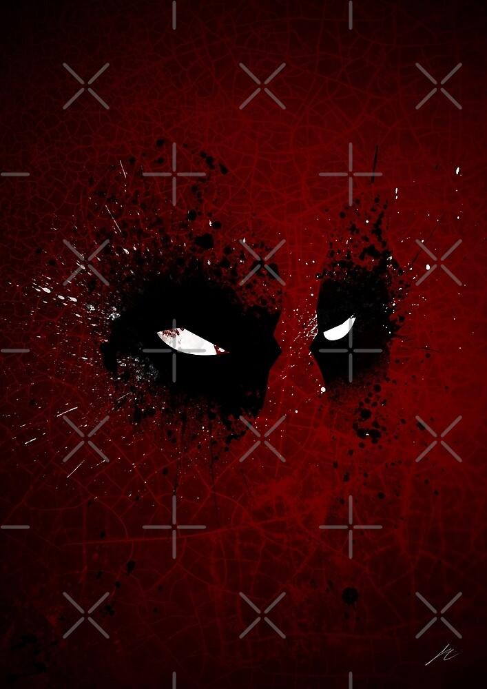 Paint Splatter Villaines : Deadpool by Arian Noveir