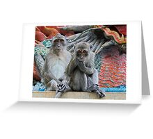 Two Little Monkeys Greeting Card