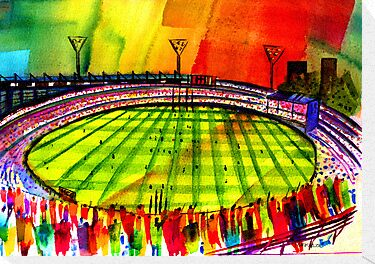 AFL Footy Melbourne MCG  by givejoydesigns
