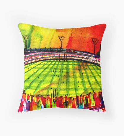 AFL Footy Melbourne MCG  Throw Pillow