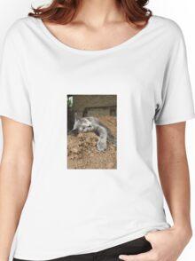 cat in dirt Women's Relaxed Fit T-Shirt