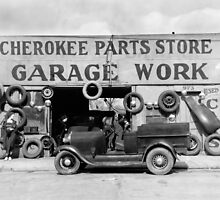 Cherokee Parts Store, 1936 by historyphoto