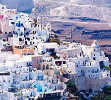 Fira on the island of Santorini by BRENDA KEAN