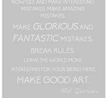 Make Good Art by accioshelby