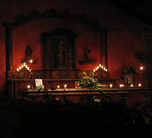 The Candlelit Lobby of Casa Santo Domingo, Antigua by Pat Yager