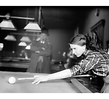Billiards Champ, 1910 Photographic Print