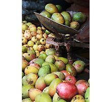 Mangoes in a market Photographic Print