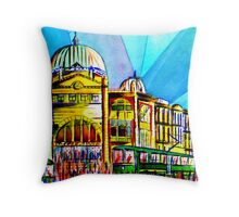 Flinders Street Station, Melbourne Australia Throw Pillow