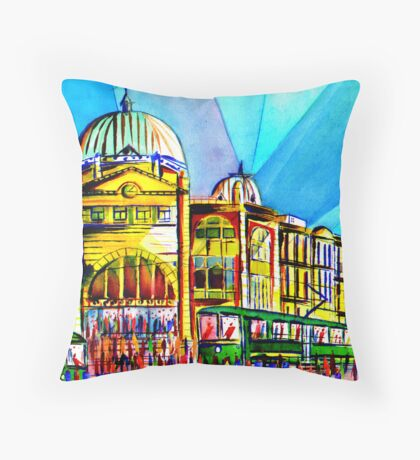 Flinders Street Station, Melbourne Australia Throw Pillow