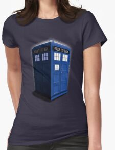 Blue Box Toon Womens Fitted T-Shirt