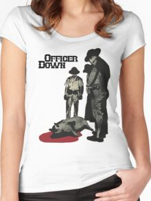 Officer Down Women's Fitted Scoop T-Shirt