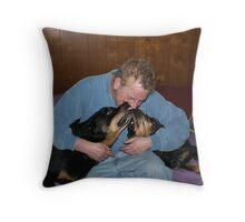 Rottweiler Love Throw Pillow