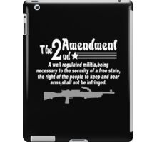 The 2nd amendment Funny Geek Nerd iPad Case/Skin