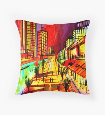 Crown Southbank- Melbourne Australia Throw Pillow