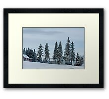Franklin Vermont Fresh Snow Framed Print