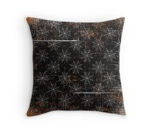 A Bootiful Spiderweb Throw Pillow