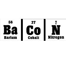 The elements of bacon Funny Geek Nerd Photographic Print