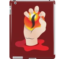 Hand grasping an orb with a tigers eye iPad Case/Skin