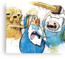Adventure Time Finn and Jake and IceKing Canvas Print