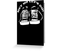 The Ramones Tribute Hey Ho lets Go Funny Geek Nerd Greeting Card