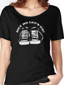The Ramones Tribute Hey Ho lets Go Funny Geek Nerd Women's Relaxed Fit T-Shirt