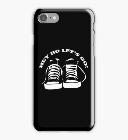 The Ramones Tribute Hey Ho lets Go Funny Geek Nerd iPhone Case/Skin