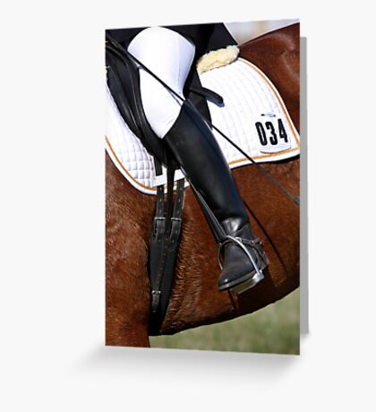 Dressage Detail Greeting Card