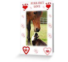 Purr-fect Love Greeting Card