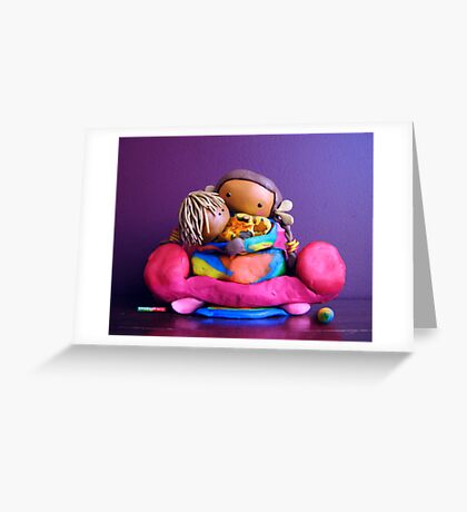 CHUNKIE Mother and Girl Child Greeting Card